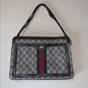 Vintage Gucci brown shoulder purse